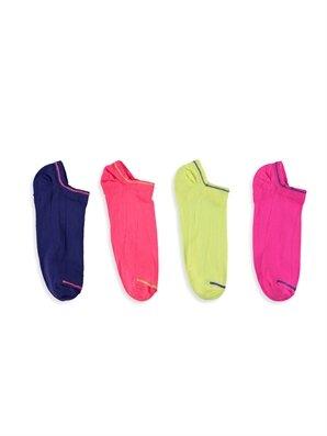 Çok Renkli Soket Çorap 4'lü