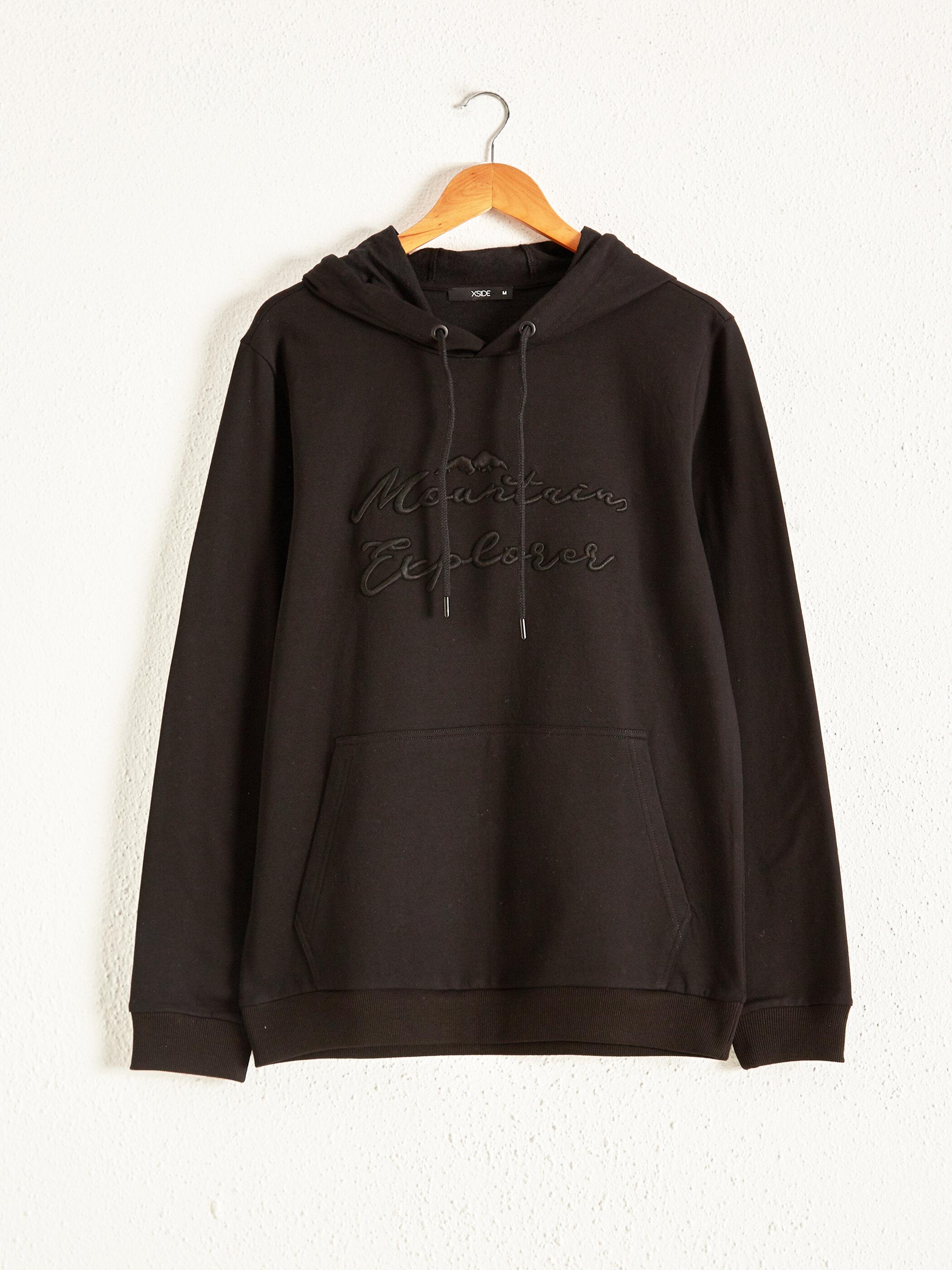 Kapüşonlu Baskılı Sweatshirt - LC WAIKIKI