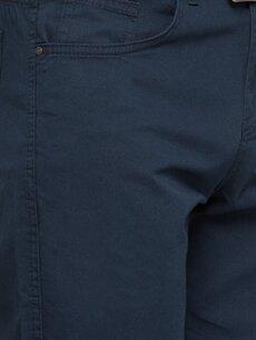 %100 Pamuk Lacivert Normal Pilesiz Pantolon