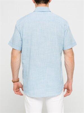 Mavi Kareli Normal Kısa Kollu Gömlek -6Y6374Z8-M2T
