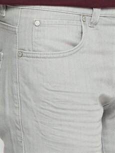 %100 Pamuk Gri Pilesiz Pantolon