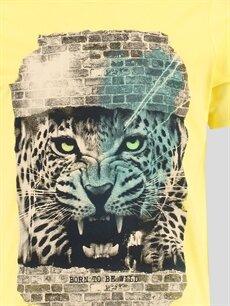 %100 Pamuk Tişört Sarı Tişört