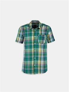 Yeşil Yeşil Kısa Kollu Gömlek 6YG390Z6 LC Waikiki