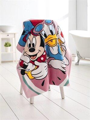 Minnie Mouse Lisanslı Kadife Plaj Havlusu - LCW HOME