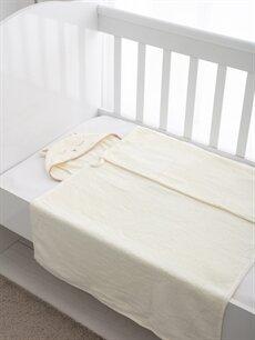 Ekru Nakışlı Bebek Battaniye 8WM145Z1 LC Waikiki