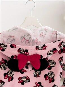 Minnie Mouse Lisanslı Kapüşonlu Çocuk Bornoz