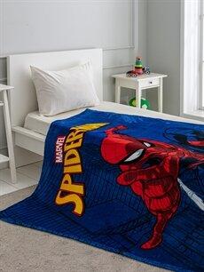Lacivert Erkek Çocuk Spiderman Lisanslı Battaniye 9WH265Z4 LC Waikiki