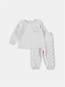Pembe Kız Bebek Pijama Takımı 6KG441Z1 LC Waikiki