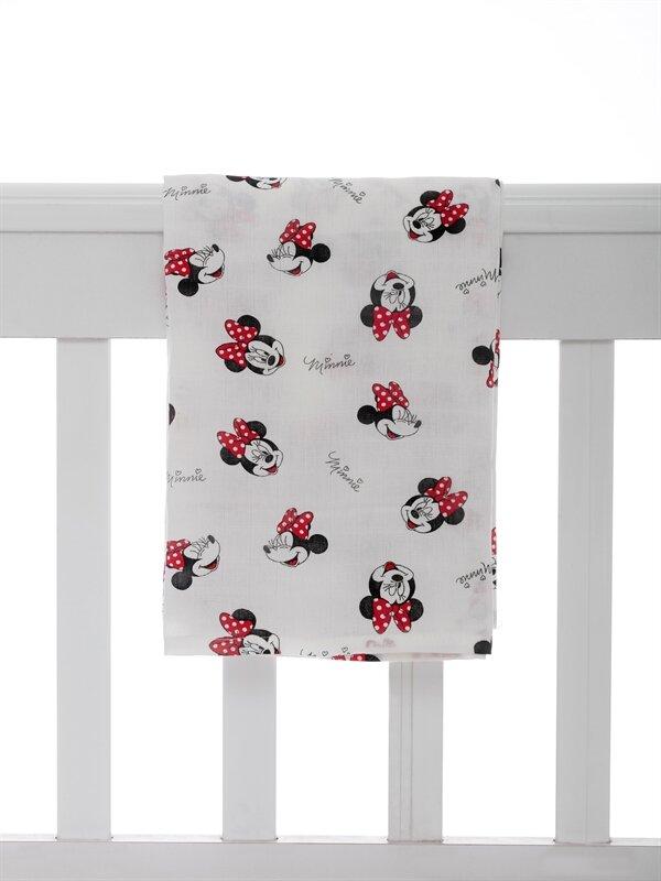 Kız Bebek Minnie Mouse Baskılı Müslin Bez - LC WAIKIKI