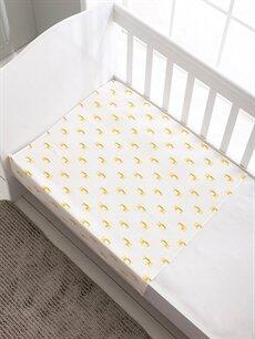 %100 Pamuk Baskılı Bebek Battaniye Erkek Bebek Müslin Battaniye