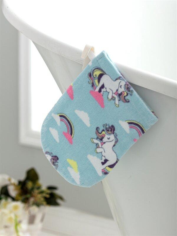 Kız Çocuk Unicorn Baskılı Kadife Kese - LCW HOME