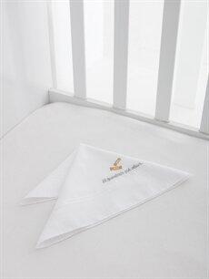 %100 Pamuk Bebek Aksesuar Nakışlı Mendil
