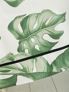 %67 Pamuk %33 Polyester  Yaprak Desenli Masa Örtüsü