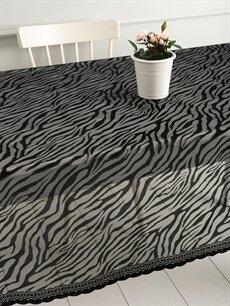 Siyah Zebra Desenli Dantelli Masa Örtüsü 9WJ488Z8 LC Waikiki