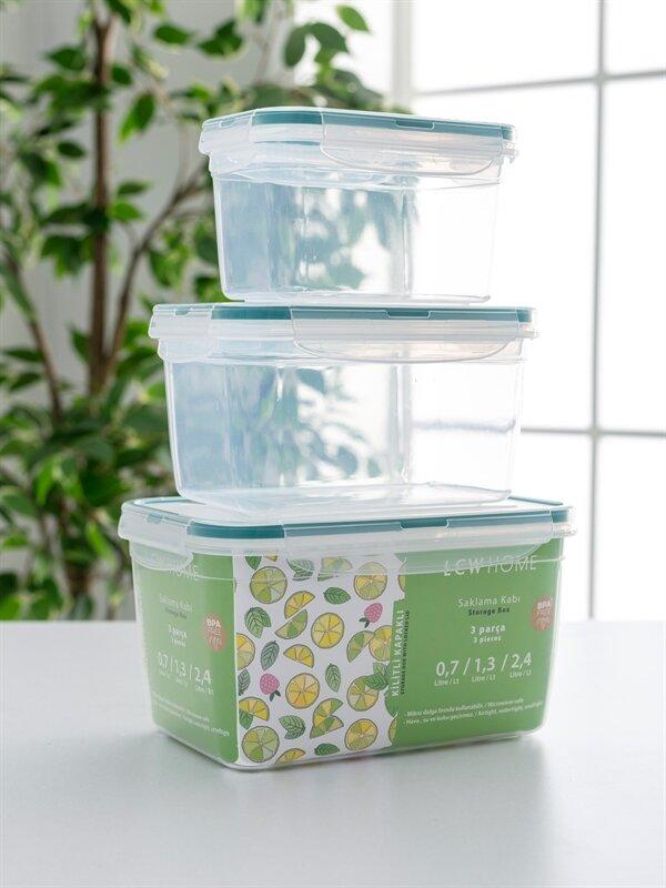 Plastik Saklama Kabı 3'lü - LCW HOME