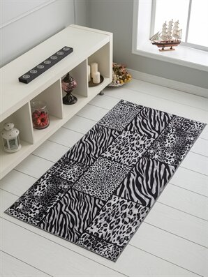 Leopar ve Zebra Desenli İnce Halı - LCW HOME