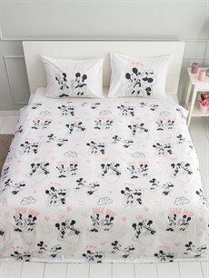 %100 Pamuk Çift Kişilik Nevresim Minnie & Mickey Mouse Lisanslı Nevresim Seti