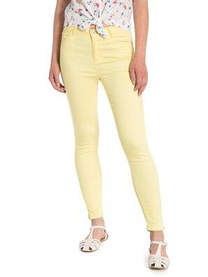 Sarı Yüksek Bel Dar Pantolon Lc Waikiki Lcw 7y9416z8 – Feb – Limon Sarisi – 49.99 TL