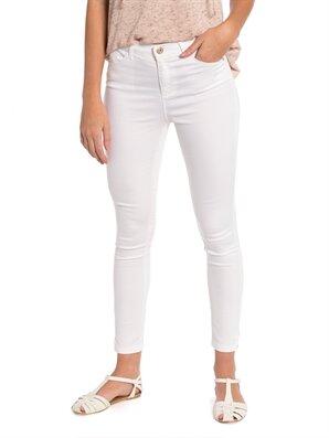 Beyaz Yüksek Bel Dar Pantolon Lc Waikiki Lcw 7y9416z8 – E5x – Optik Beyaz – 49.99 TL