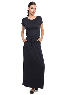 İndigo Uzun Düz Kısa Kollu Elbise Lc Waikiki Lcw 7yj960z8 – D6t – İndigo Melanj – 35.95 TL