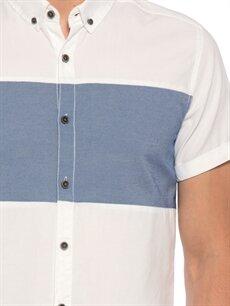%100 Pamuk Beyaz Düz Kısa Kollu Gömlek
