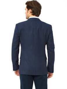 %65 Polyester %35 Viskon %100 Polyester Standart Orta Ceket Orta Ekose Ceket