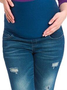 %99 Pamuk %1 Elastan Skinny Hamile Jean Pantolon