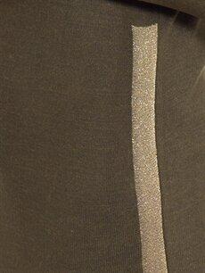 %100 Akrilik Işıltılı Şerit Detaylı Triko Tunik