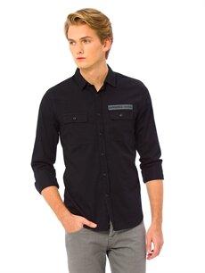 Siyah Gömlek 7K7254Z8 LC Waikiki