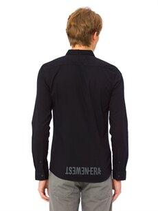 %100 Pamuk Düz Uzun Kol Gömlek