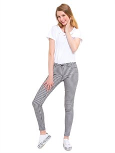 %66 Pamuk %30 Polyester %4 Elastan Normal Bel Dar Pantolon