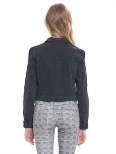 Genç Kız Cep Detaylı Jean Ceket