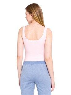 %50 Pamuk %47 Polyester %3 Elastan Standart İç Giyim Üst Baskılı Bodysuit