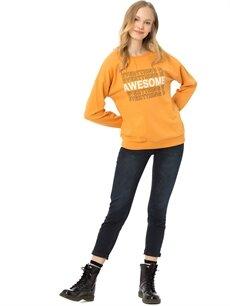 Kadın Yazı Baskılı Sweatshirt