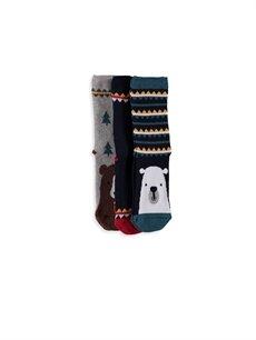 %90 Pamuk %9 Poliamid %1 Elastan Çorap Soket Çorap 3'lü