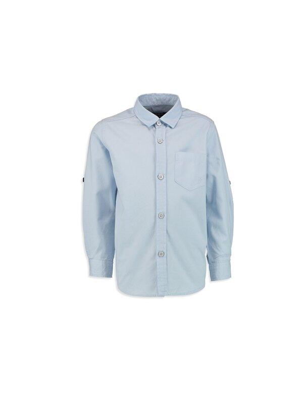 Erkek Çocuk Uzun Kollu Poplin Gömlek - LC WAIKIKI