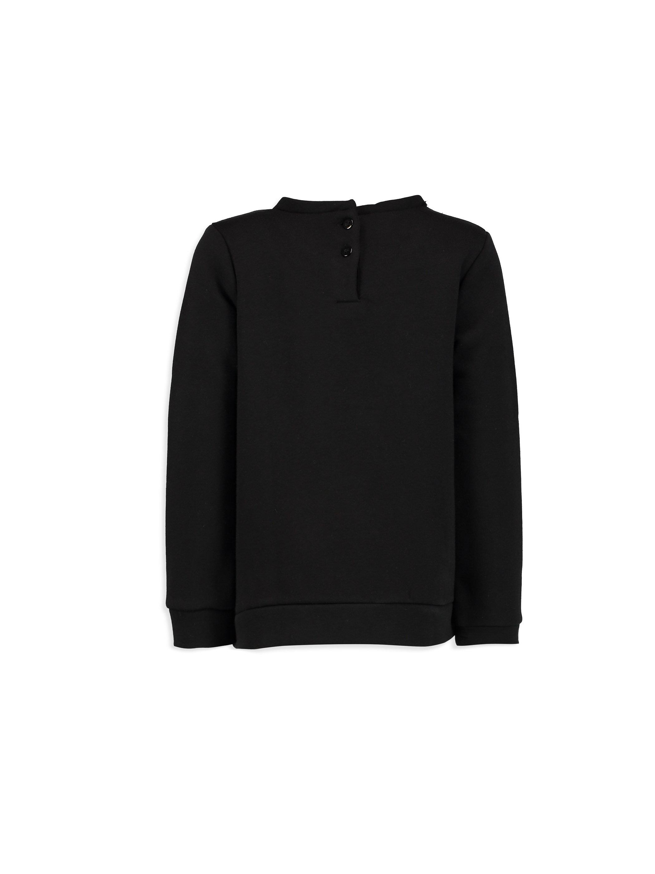 Yazı Baskılı Bağlama Detaylı Sweatshirt -7KA407Z4-CVL