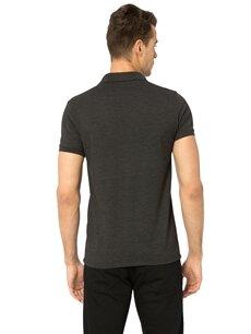 %58 Pamuk %42 Polyester Standart Düz Kısa Kol Tişört Polo Polo Yaka Kısa Kollu Pike Tişört