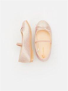 %0 Tekstil malzemeleri ( %100 polyester) Ayakkabı Fiyonk Detaylı Babet