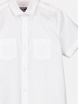 Kısa Kollu Poplin Gömlek -8S0955Z4-JYX