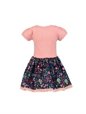 Dantel Detaylı Çiçek Desenli Elbise -8S1305Z4-373