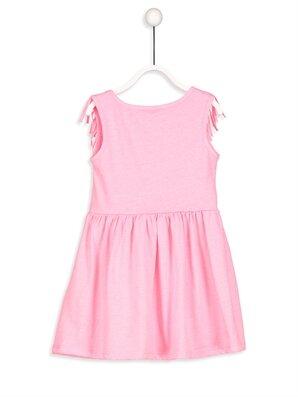Püskül Detaylı Pamuklu Örme Elbise -8S2277Z4-D4G