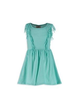 Püskül Detaylı Pamuklu Örme Elbise -8S2277Z4-CVX