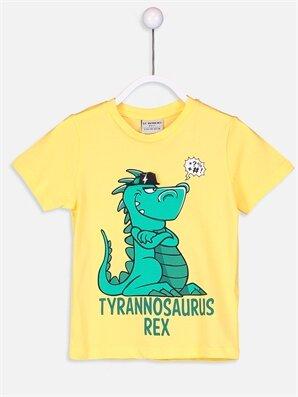 Erkek Çocuk Baskılı Pamuklu Tişört -8S7673Z4-FZF