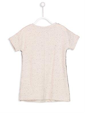 Yanları Şeritli Yazı Baskılı Elbise -8SF064Z4-847