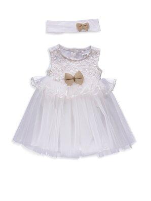 Kız Bebek Elbise ve Saç Bandı -8S4610Z1-E5X