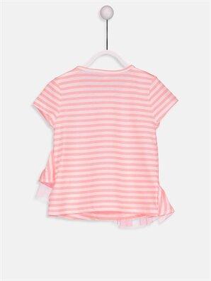 تیشرت نوزاد دختر چاپی طرح دار صورتی