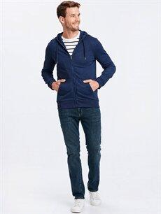 Erkek Fermuarlı Kapüşonlu Sweatshirt