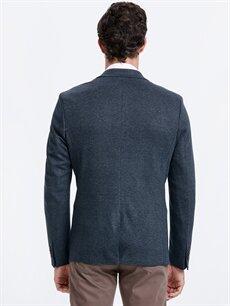 %66 Polyester %2 Elastan %32 Viskon %100 Polyester  Dar Kalıp Ekose Blazer Ceket