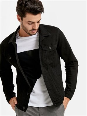 erkek dar kalıp jean ceket